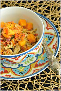 Sweet my Kitchen: Salada de frango e papaia com molho de gengibre