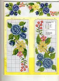 "Photo from album ""Punto Cruz"" on Yandex. Cross Stitch Bookmarks, Cute Cross Stitch, Cross Stitch Borders, Cross Stitch Rose, Cross Stitch Flowers, Cross Stitch Charts, Cross Stitch Designs, Cross Stitch Patterns, Crochet Patterns"