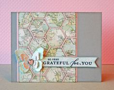 "Maps and Hexagons! Could do a ""missing you"" or ""wish you were here"" card"