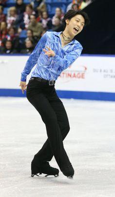 ISU Grand Prix Series, Skate Canada 2013. Yuzuru Hanyu is performing SP #Parisienne #Walkways