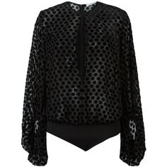 Camilla And Marc Carmine Bodysuit Blouse ($499) ❤ liked on Polyvore featuring tops, blouses, black, body suit, bodysuit blouse, bodysuit tops and camilla and marc