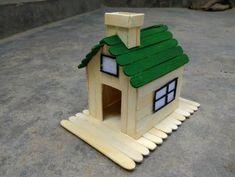 How To Make A Popsicle Stick House - ArtsyCraftsyDad