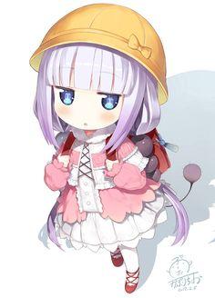 kobayashi-san chi no maid dragon elma chibi Chibi Anime, Art Anime, Dragon Girl, Miss Kobayashi's Dragon Maid, Otaku, Loli Kawaii, Kawaii Anime, Kobayashi San Chi No Maid Dragon, Kanna Kamui