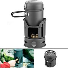 Windproof Design Anodized Aluminum Camping Picnic Cookware Cookset 7 pcs Complete Set with Brass Alcohol Stove & 15oz Bowl by Astra Depot, http://www.amazon.com/dp/B00CRAGAAA/ref=cm_sw_r_pi_dp_Xcjesb0NM8434