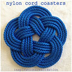inspiration and realisation: DIY fashion blog: DIY nautical coasters. Maybe make a hot pad?