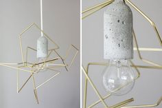 Geometric Wire Lampshade   25 DIY Lighting Projects