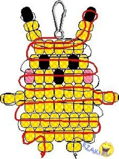 19 Pokemon DIY - Pokemon Go - Red Ted Art Beaded Pokemon Pikachu<br> So with the advent of Pokemon Go, EVERYONE is talking about Pokemon and Pokemon DIY and Crafts again. We have selected the best Pokemon ideas for you! Pony Bead Projects, Pony Bead Crafts, Beaded Crafts, Crafts With Pony Beads, Beading Projects, Pony Bead Animals, Beaded Animals, Pony Bead Patterns, Beading Patterns Free