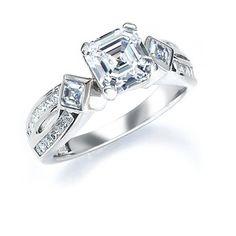 Royal Asscher Cut Engagement Ring model CR51ER