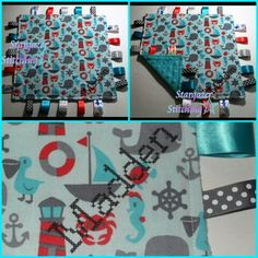 Personalized Taggie Blanket (cotton and minky)