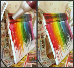 SO COOL! Melted Crayon Art...I am SO doing this!!!!