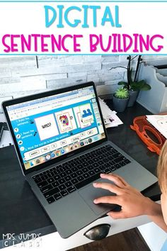 Digital sentence building activities that are preloaded to Seesaw for distance learning, or use of technology within your kindergarten classroom.