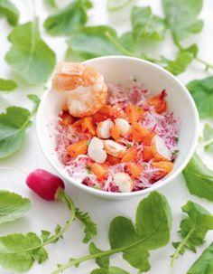 Salade de langoustine, radis et orange (pour bébé à partir de 18 mois) par Alain Ducasse | La recette sur Gourmets de France .fr