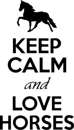 personnaliser tee shirt Keep Calm And Love Horses