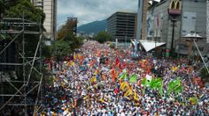 Thousands take to the streets of Caracas on February 22