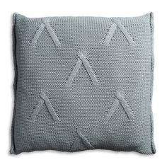 Pillow 50x50 - Aran AZ stone green by Knit Factory www.knitfactory.nl