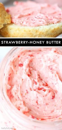 Strawberry Honey Butter – Just A Pinch Recipes Strawberry Honey Butter This Strawberry Honey Butter is an amazing condiment, perfect for toast, pancakes, muffins, or any baked good. And only takes minutes to whip up! Flavored Butter, Homemade Butter, Butter Recipe, Homemade Breads, Chutney, Easy Lemon Curd, Muffins, Salted Or Unsalted Butter, Sauce Barbecue