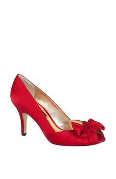 Nina 'Forbes' Peep Toe Pump available at Nordstrom- Wedding shoes possibility <3