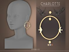 riptide-cc Charlotte Earrings - The Sims 4 Sims 4 Mm Cc, Sims 1, Maxis, Los Sims 4 Mods, Sims 4 Piercings, Sims 4 Cc Folder, The Sims 4 Skin, The Sims 4 Cabelos, Sims 4 Children