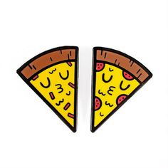 Share a Slice with Someone Nice Pin Set by Matthew Wong