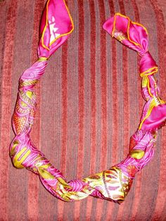 How to Fold a Scarf Like a Necklace ~ one pinner used it on a Hermes scarf