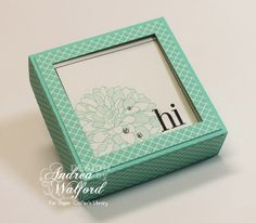 Stampin' Up!: Regarding Dahlias Gift Card Box & Gift Cards