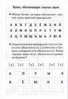 Буквы, обозначающие гласные звуки