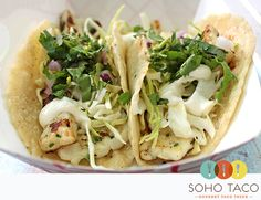 SoHo Taco Gourmet Taco Truck - May Special - Calamari Taco - Orange County CA