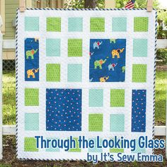 Through the Looking Glass, a new Little P designed by Sarah Price for It's Sew Emma!  Featuring Celebration by Bunny Hill Designs