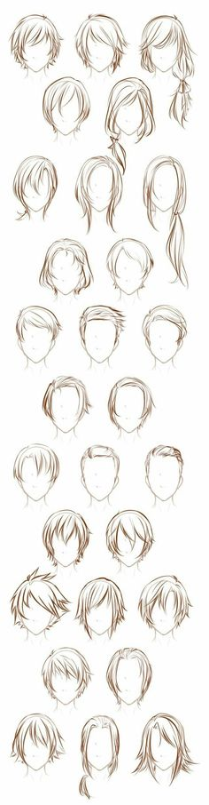 For when you don't know what kind of hair to draw. #ShagHairstyles