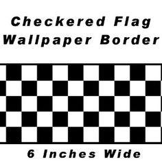 Checkered Flag Cars Nascar Wallpaper Border-6 Inch (Black Edge) - Amazon.com
