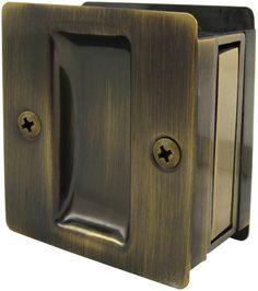 Square Pocket Door Lock Passage Latch