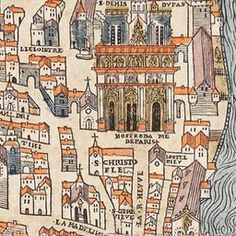 Map of Paris Circa 1550 | Old Maps of Paris. Don't forget to visit the site,you'll get a better idea of what Paris was like at that time!