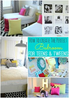 How to Create the Perfect Bedroom for Teens & Tweens!! So many great ideas for making a teen bedroom special and functional!!-- Tatertots and Jello for | eBay spon