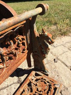 Fabulous Antique American Cast Iron Fire Fireplace Grate Basket Victorian Signed | eBay