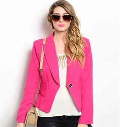 I LOVE PINK BLAZER | Embelle Boutique