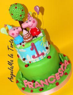 peppa e george pig cake - Cake by AngelaMa Le Torte