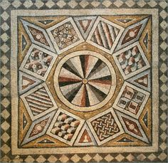 roman tile floor | Roman Mosaic Tile Floor With Geometric Pattern | Free Download HD
