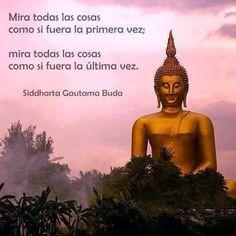 ... Mira todas las cosas como si fuera la primera vez; Mira todas las cosas como si fura la última vez. Siddharta Gautama, Buda.