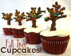 Little Family Fun: Fall Tree Cupcakes