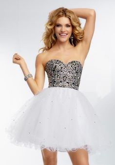Mori Lee Sticks & Stones Homecoming Dress 9265 at Peaches Boutique