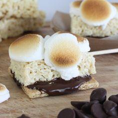 Rice Krispies Treats S' More   @kimbyers TheCelebrationShoppe.com