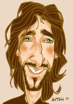 caricaturas de famosos: Adrien Brody. Caricatura digital Adrien Brody, Caricatures, Princess Zelda, Smile, Celebrities, Drawings, Fictional Characters, Art, Celebrity Caricatures
