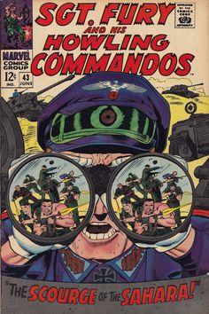 When Titans Clash! Sgt Fury and his Howling Commandos 43 (FN Vintage Comic Books, Vintage Comics, Vintage Magazines, War Comics, Marvel Dc Comics, Dorothy Lamour, Captain America And Bucky, Western Comics, Silver Age Comics