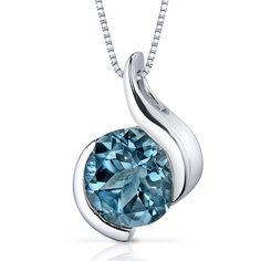 MSRP: $199.99  Our Price: $89.99  Savings: $110.00         Item Number: SP9488    Availability: Usually Ships in 5 Business Days         PRODUCT DESCRIPTION:    A large round Genuine London Blue Topaz sits prominently at the center of this solitaire pendant for her and feature a contemporary bezel set design. A perfect gift for Mothers Day, Birthdays, Valentines Day, Graduation, Christmas or just about any other occasion.         FEATURES:      	Crafted in .925 Sterling Silver  	8.0 mm Lab…