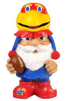 Kansas Jayhawks Garden Gnome - Mad Hatter