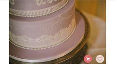 Lavender and lace wedding cake Lane Cake, Lace Wedding, Wedding Cakes, Lavender, Fashion, Wedding Gown Cakes, Moda, Fashion Styles, Wedding Pie Table
