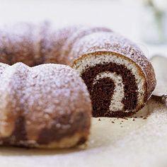 Coffee-Chocolate Marble Cake