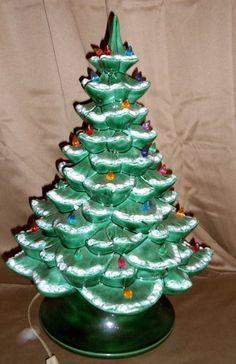 musical ceramic christmas tree vintage nightlight music box lights flocked - Musical Christmas Tree Lights
