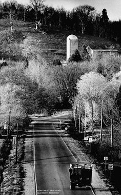 Country road with truck  Jack Corn, Photography
