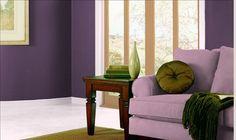 Valspar Traditional Living Room 1: Plum Good 4011-10, I am painting our living room this color eventually!